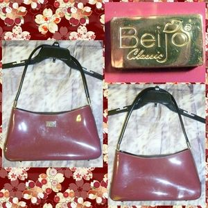 Biejo Sml Purplish Pink Patent Purse/Shoulder Bag
